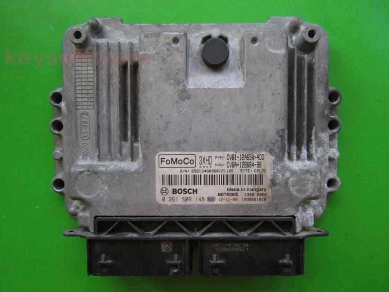 ECU Ford C-Max 1.0 CV61-12A650-ADD 0261S09148 MED17.0.1