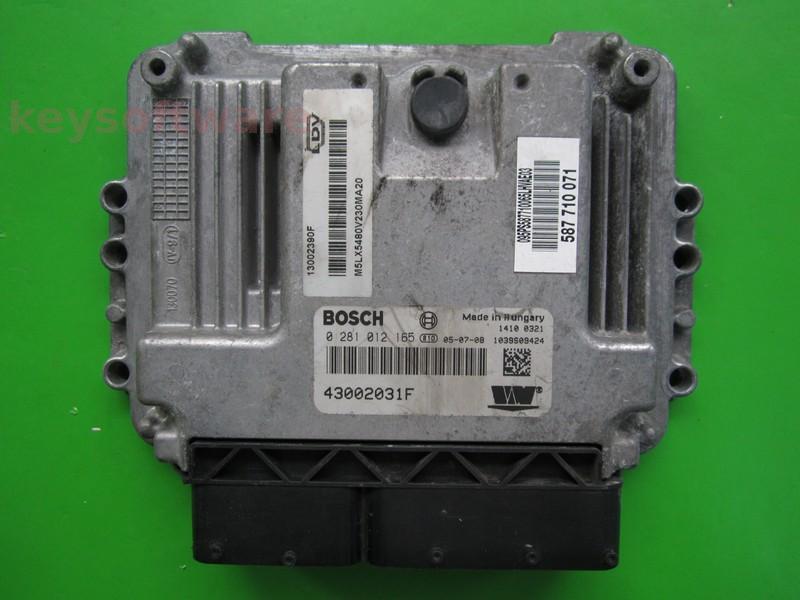 ECU LDV Maxus 2.5TD 43002031F 0281012165 EDC16C39