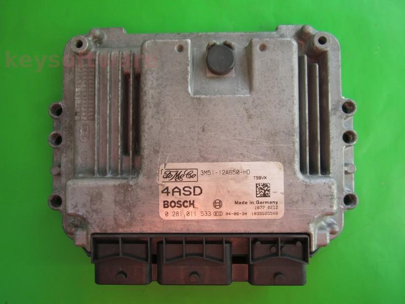 ECU Ford C-Max 1.6TDCI 3M51-12A650-HD 0281011533 EDC16C3 }