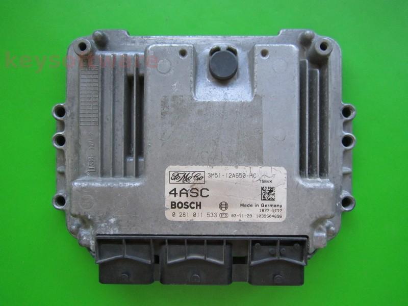 ECU Ford C-Max 1.6TDCI 3M51-12A650-HC 0281011533 EDC16C3