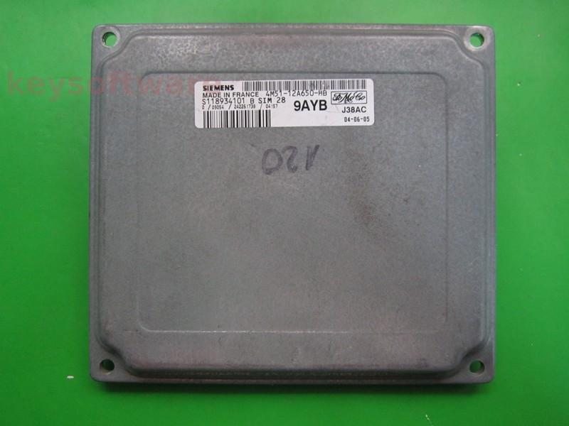 ECU Ford C-Max 1.6 4M51-12A650-HB SIM28