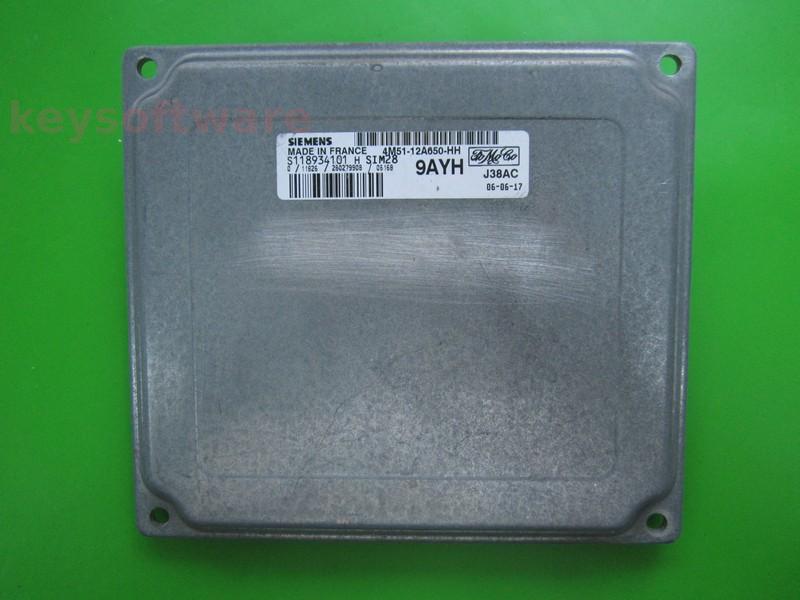 ECU Ford C-Max 1.6 4M51-12A650-HH SIM28