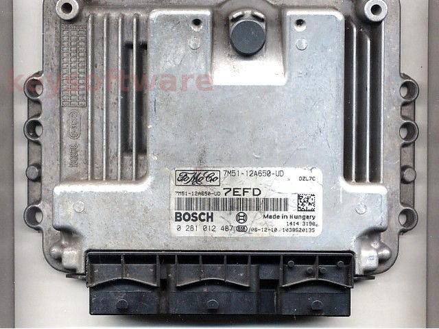 ECU Ford C-Max 1.6TDCI 7M51-12A650-UD 0281012487 EDC16C34 {+