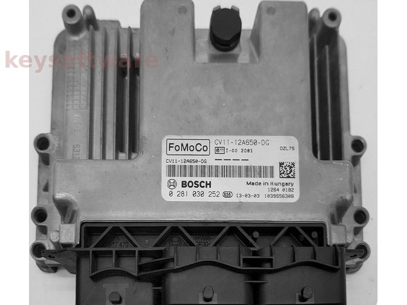 ECU Ford B-Max 1.6TDCI CV11-12A650-DG 0281030252 EDC17C10 {