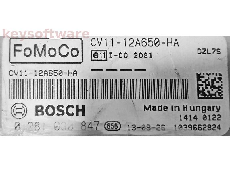 ECU Ford B-Max 1.6TDCI CV11-12A650-HA 0281030847 EDC17C10 {
