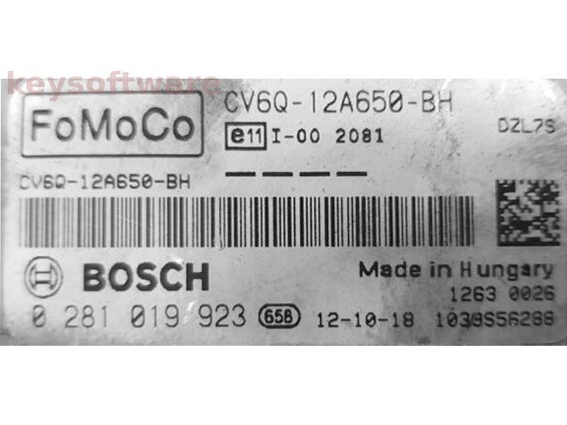 ECU Ford C-Max 1.5TDCI CV6Q-12A650-BH 0281019923 EDC17C10 {