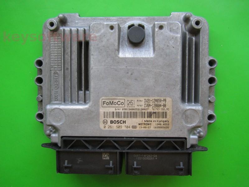 ECU Ford B-Max 1.0 DV21-12A650-PB 0261S09704 MED17.0.1