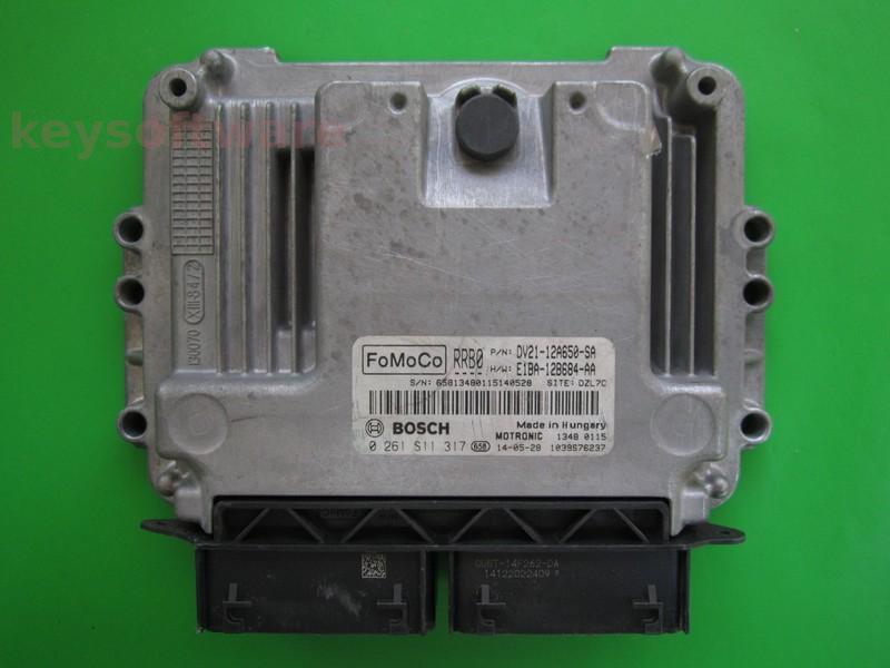 ECU Ford B-Max 1.0 DV21-12A650-SA 0261S11317 MED17.0.1