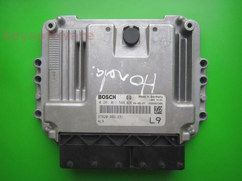 ECU Honda Accord 2.2CDTI 37820-RBD-E51 0281011546 EDC16C7
