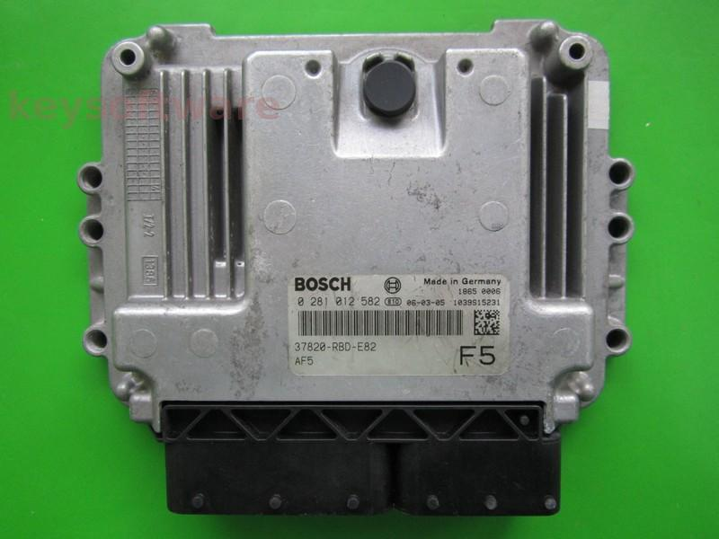 ECU Honda Accord 2.2CDTI 37820-RBD-E82 0281012582 EDC16C7
