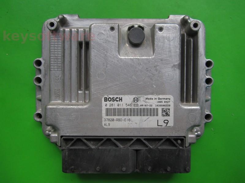 ECU Honda Accord 2.2CDTI 37820-RBD-E16 0281011546 EDC16C7
