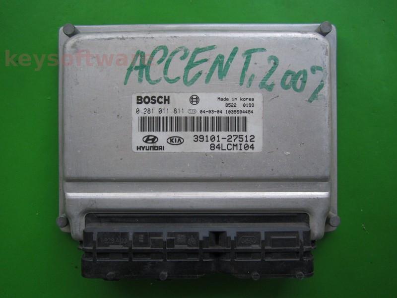 ECU Hyundai Accent 1.5CRDI 39101-27512 0281011811 EDC15C7