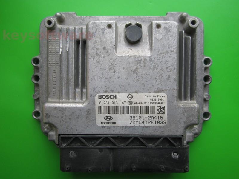ECU Hyundai Accent 1.5CRDI 39101-2A415 0281013147 EDC16C39 }