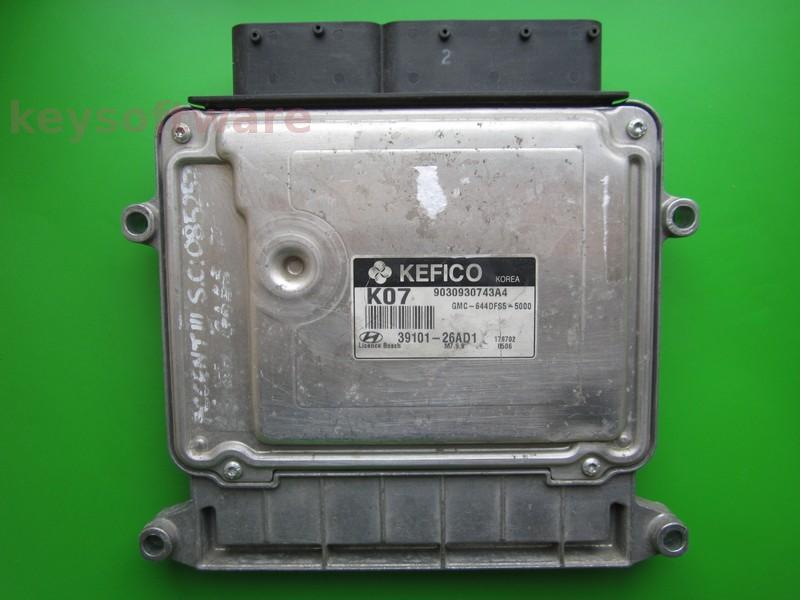 ECU Hyundai Accent 1.4 39101-26AD1 9030930743A4 M7.9.8 }
