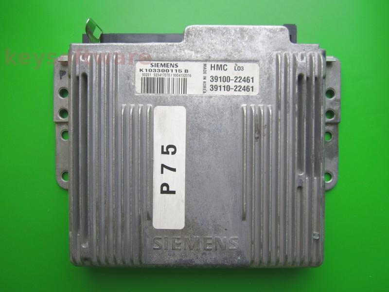 ECU Hyundai Accent 1.3 39100-22461 K103300115B