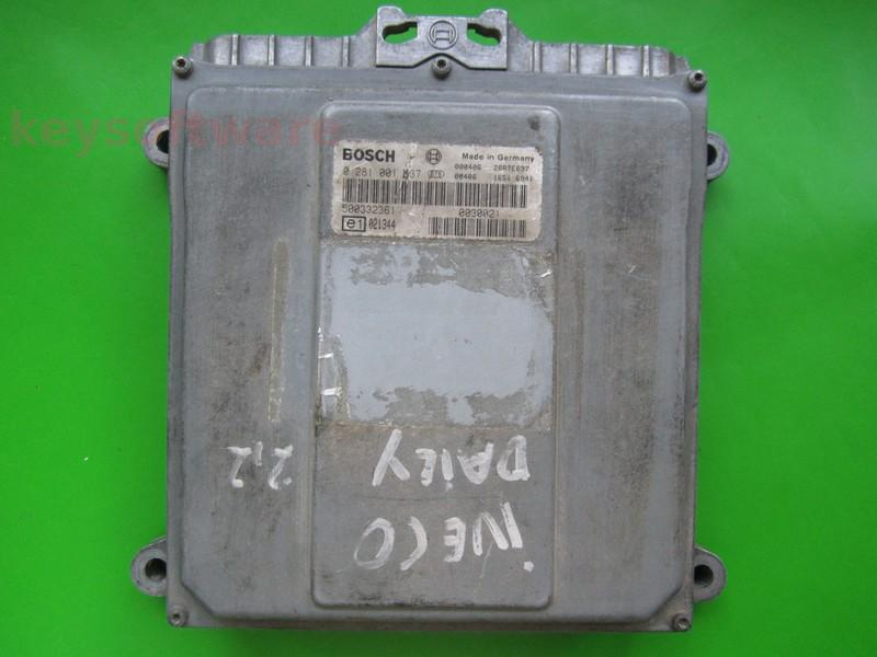 ECU Iveco Daily 2.3JTD 500332361 0281001537 MS6.3