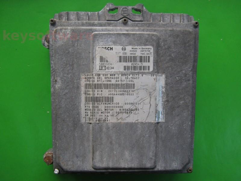 ECU Iveco Daily 2.8JTD 500332361 0281001537 MS6.3