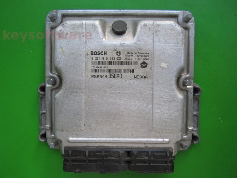 ECU Jeep Grand Cherokee 2.7CRD P56044356AD 0281010293 EDC15C5