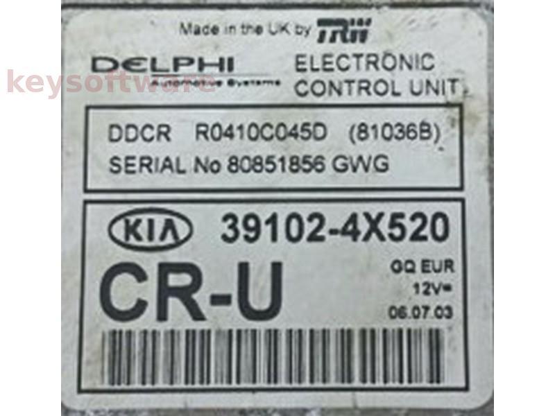 ECU Kia Carnival 2.9CRDI 39102-4X520 81036B DDCR {