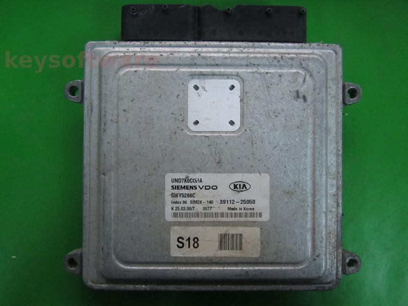 ECU Kia Carens 2.0 39112-25050 5WY5266C VDO SIM2K-140
