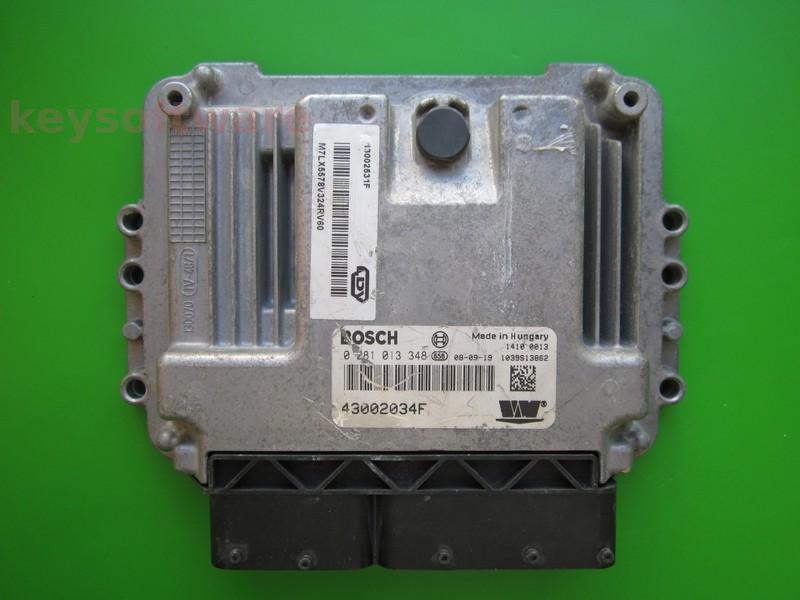 ECU LDV Maxus 2.5TD 43002034F 0281013348 EDC16C39