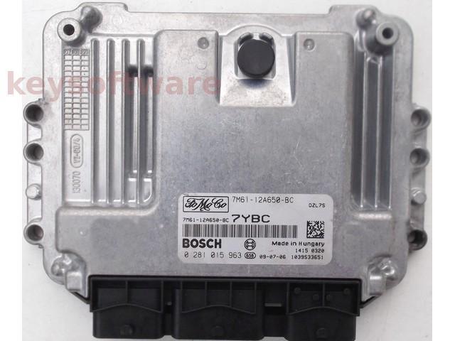 ECU Mazda 3 1.6TDCI 7M61-12A650-BC 0281015963 EDC16C34 {