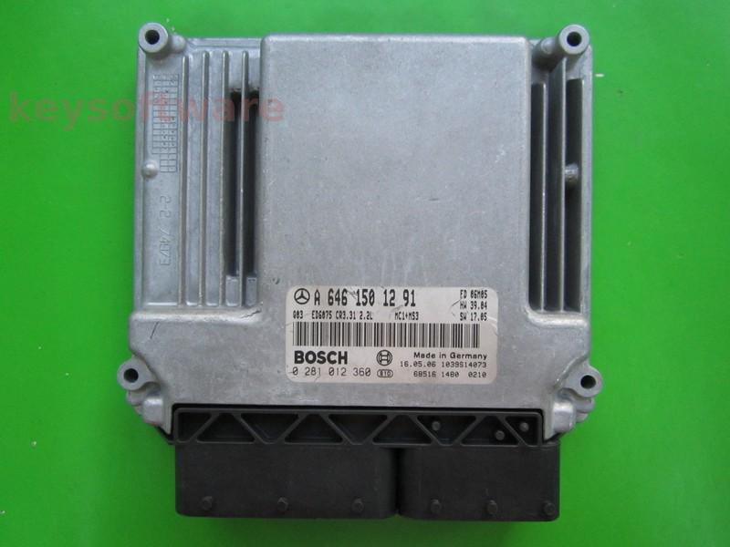 ECU Mercedes Vito 2.2CDI A6461501291 0281012360 EDC16C2