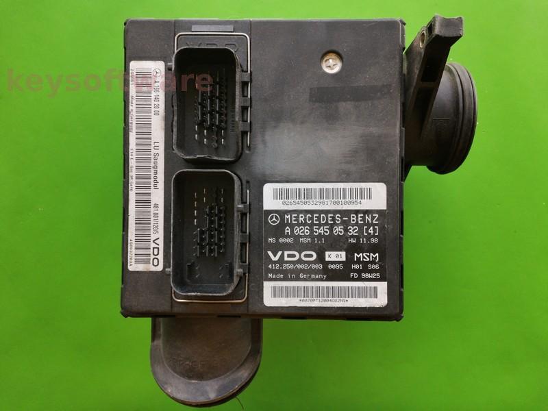 ECU Mercedes A 1.4 A0265450532 MSM1.1 W168