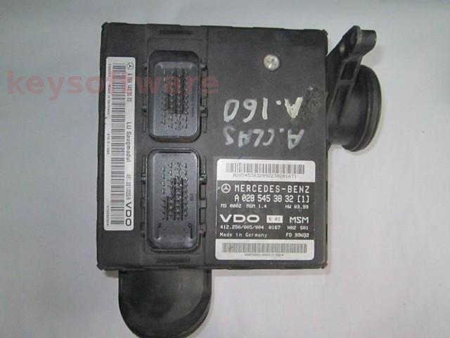 ECU Mercedes A 1.4 A0285453832 MSM1.4 W168 {