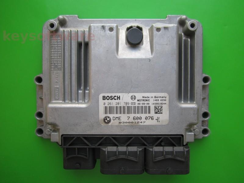 ECU Mini Cooper 1.6 DME7600076 0261201709 MEV17.2