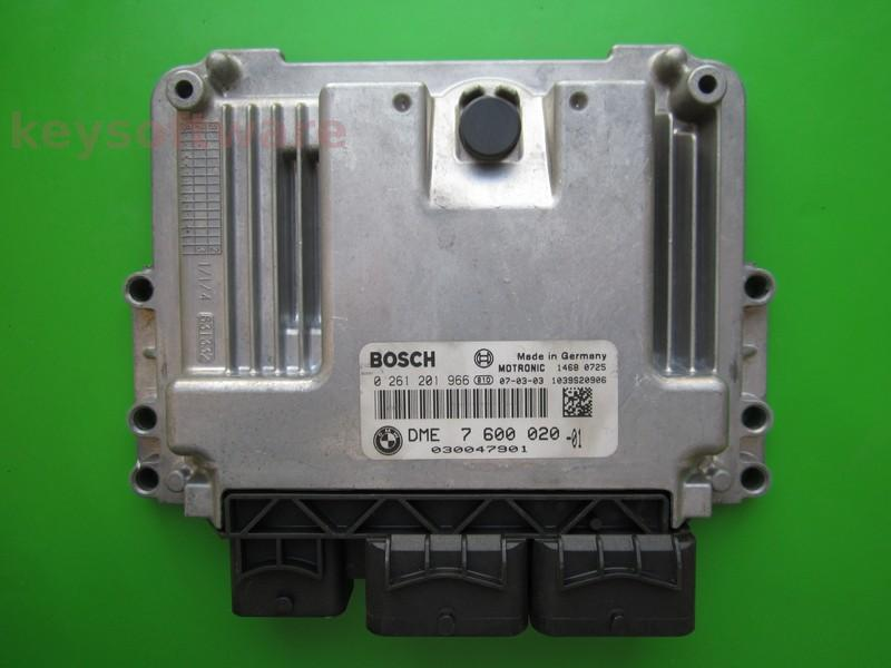 ECU Mini Cooper 1.6 DME7600020 0261201966 MEV17.2