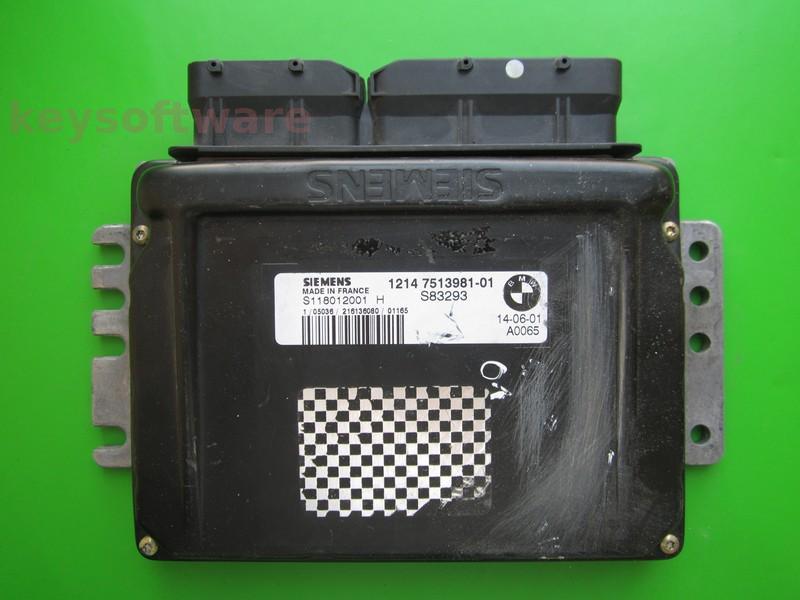 ECU Mini Cooper 1.6 7513981 S118012001H EMS2