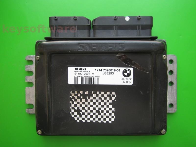 ECU Mini Cooper 1.6 7520019 S118012001M EMS2