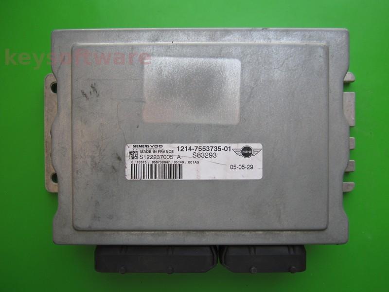 ECU Mini Cooper 1.6 7553735 S122237005A EMS5150
