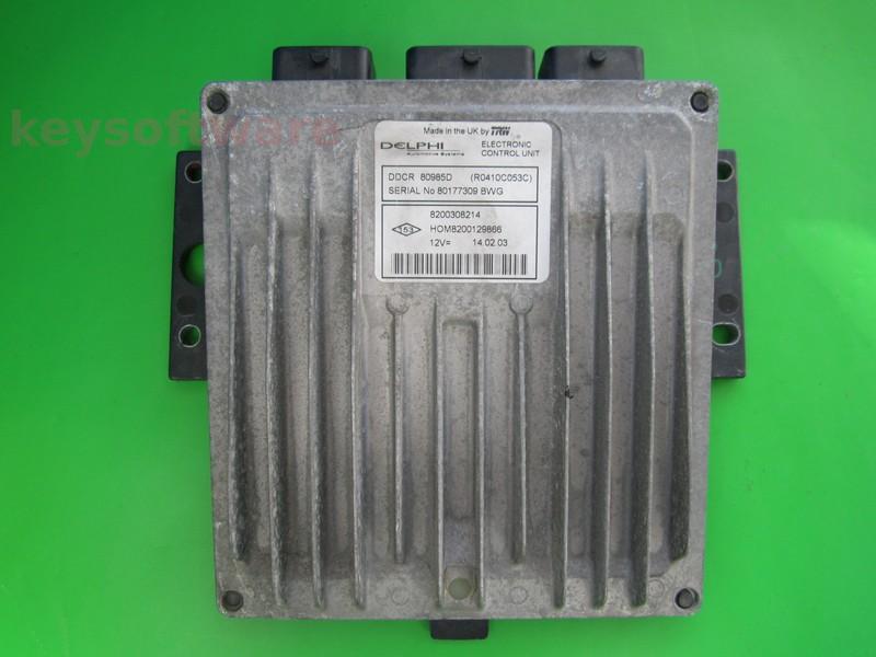 ECU Nissan Almera 1.5DCI 8200308214 80985D DDCR