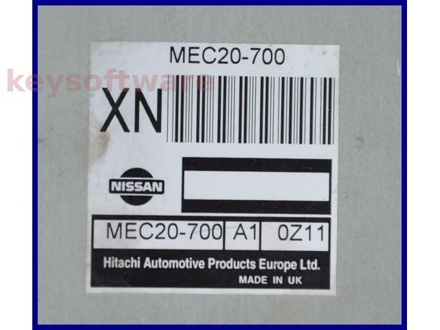 ECU Nissan Almera 1.8 MEC20-700 XN {