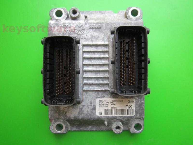 ECU Opel Corsa D 1.2 55557933 0261208940 ME7.6.2 Z12XEP }