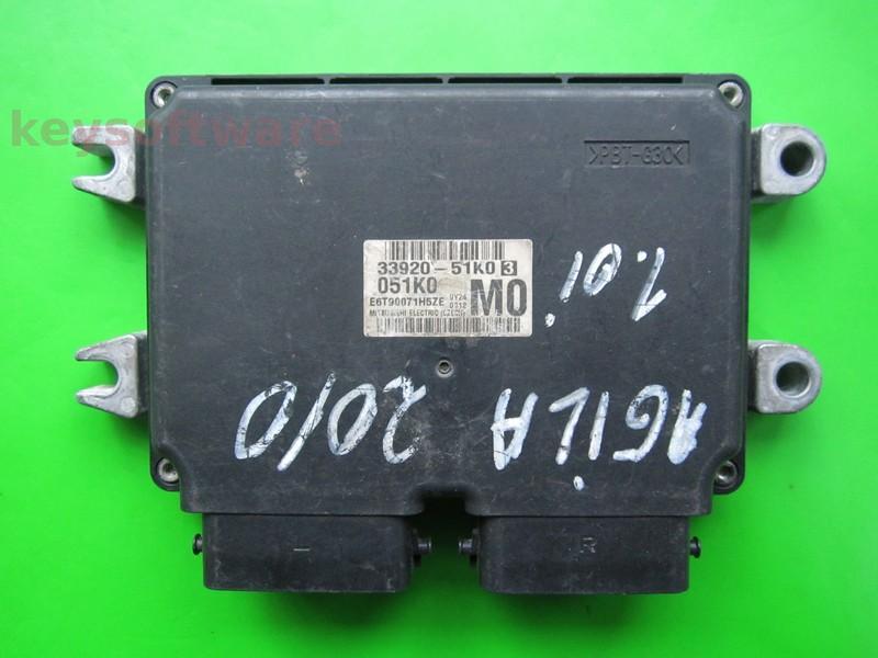 ECU Opel Agila 1.0 33920-51K0 E6T90071