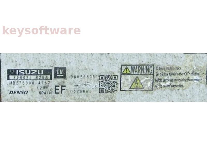 ECU Opel Meriva 1.7CDTI 98025828 MB275800-4767 DEC e01 {
