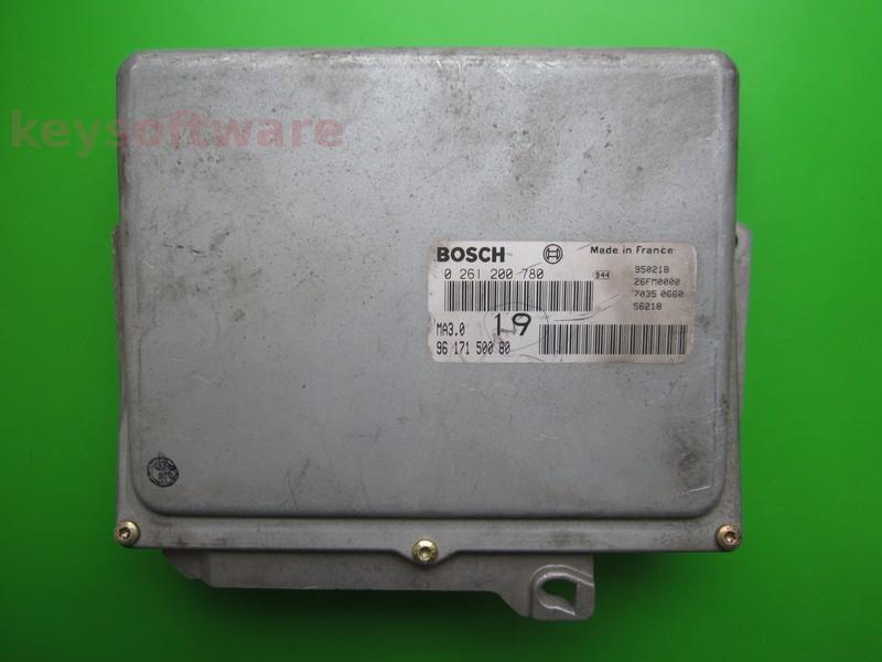 ECU Peugeot 106 1.0 9617150080 0261200780 MA3.0