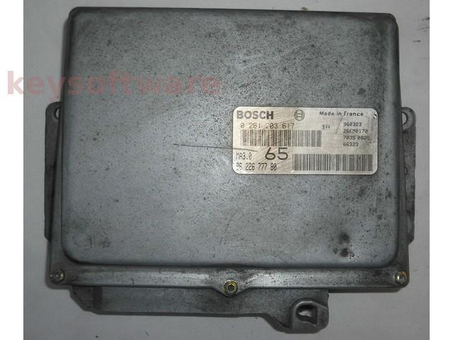 ECU Peugeot 106 1.0 9622677780 0261203617 MA3.0 {