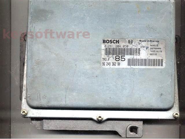 ECU Peugeot 106 1.0 9624936280 0261204050 MA3.0