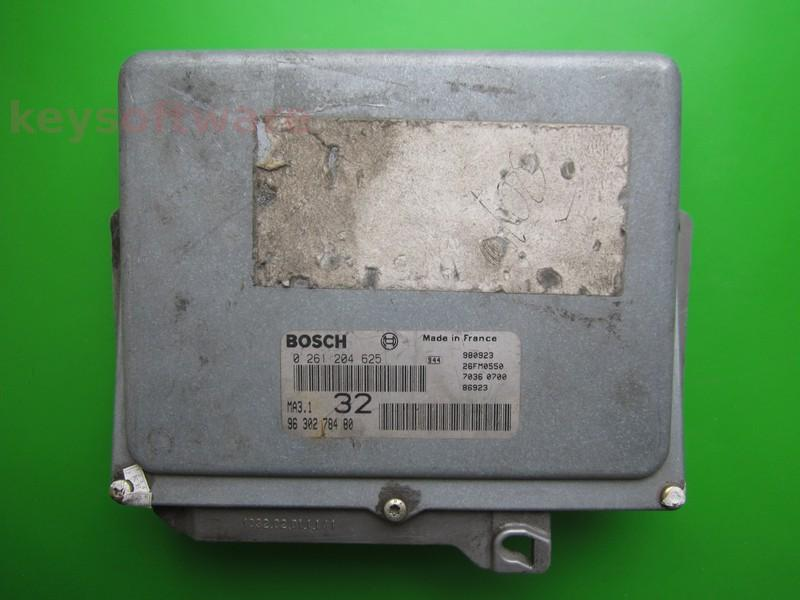 ECU Peugeot 106 1.0 9630278480 0261204625 MA3.1