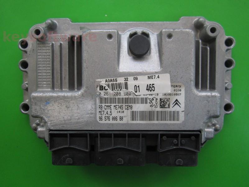 ECU Peugeot 1007 1.6 9656700680 0261208904 ME7.4.5
