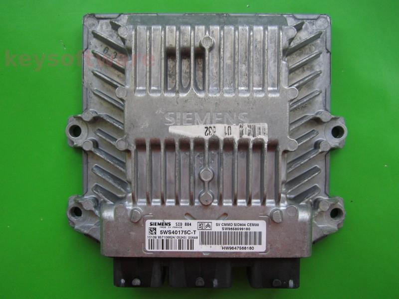 ECU Peugeot 1007 1.4HDI 9658599180 5WS40175C-T SID804