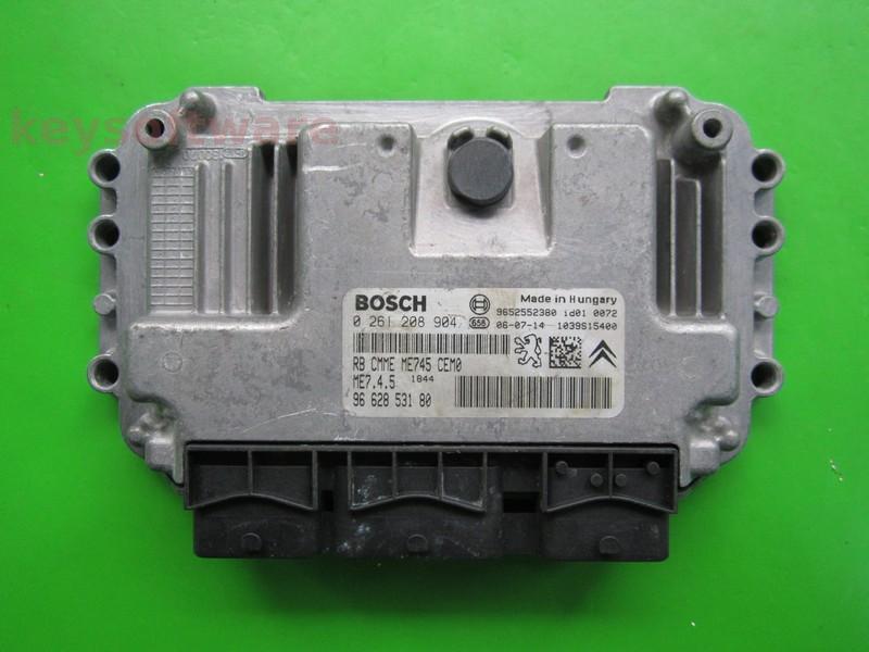 ECU Peugeot 1007 1.6 9662853180 0261208904 ME7.4.5