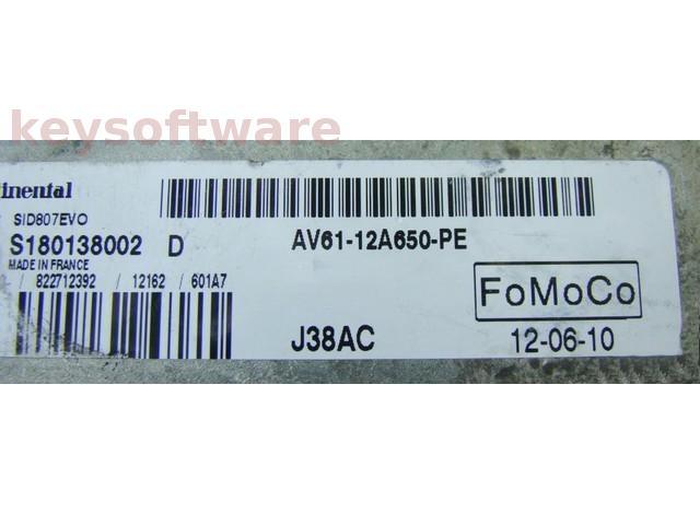 ECU Mazda 3 1.6TDCI AV61-12A650-PE SID807EVO {