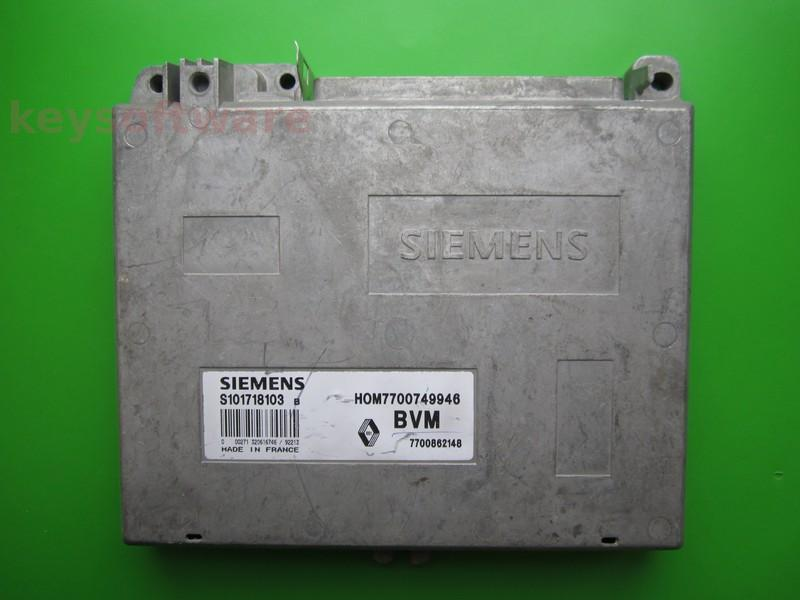 ECU Renault 19 1.4 HOM7700749946 S101718103B Fenix3B