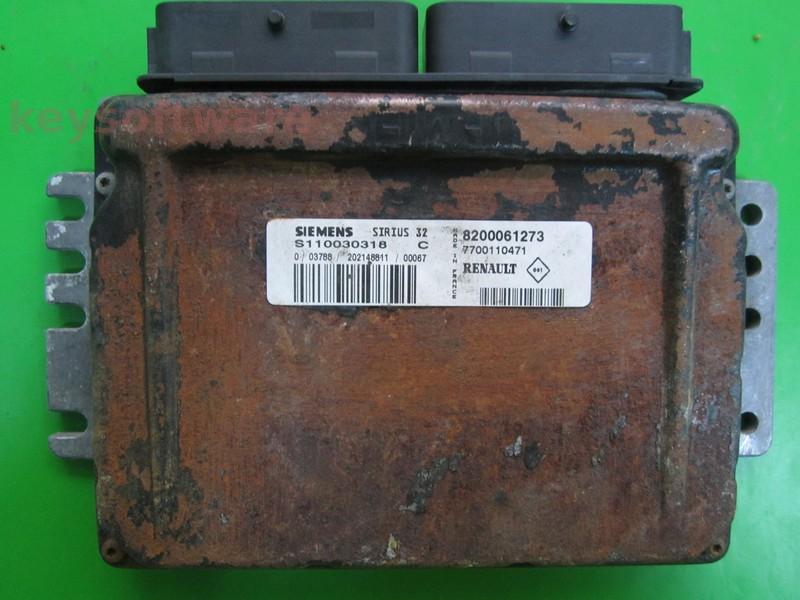 Defecte Ecu Renault Megane 1.4 8200061273 S110030318C SIRIUS 32