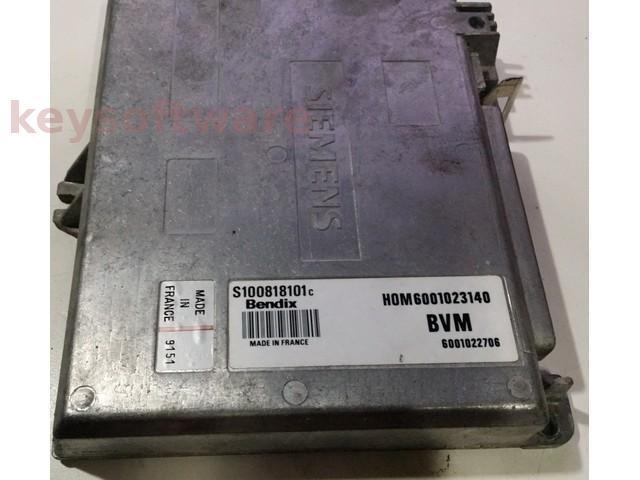 ECU Renault 19 1.7 HOM6001023140 S100818101C Bendix {